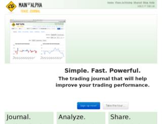 mainstreetalpha.tradervue.com screenshot