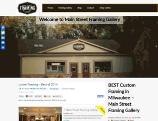 mainstreetframing.com screenshot
