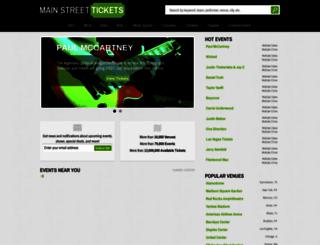 mainstreettickets.com screenshot
