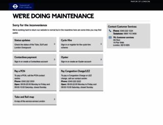 maintenance.tfl.gov.uk screenshot