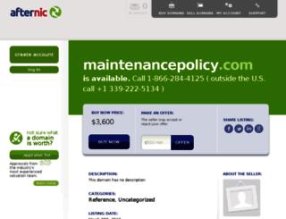 maintenancepolicy.com screenshot