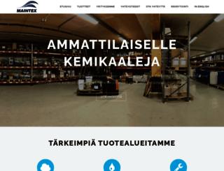 maintex.fi screenshot