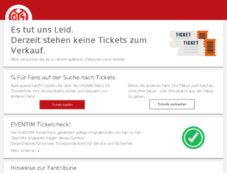 mainz05-ticketboerse.de screenshot