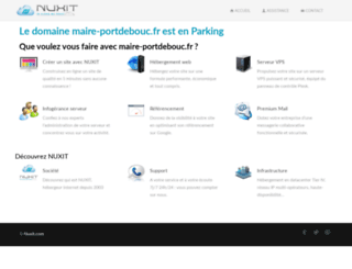 maire-portdebouc.fr screenshot