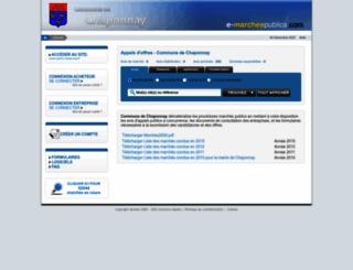 mairie-chaponnay.e-marchespublics.com screenshot