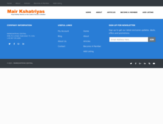 mairkshatriyas.com screenshot