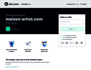 maison-artist.com screenshot