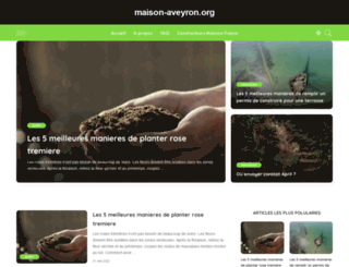 maison-aveyron.org screenshot