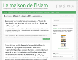 maison-islam.com screenshot