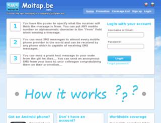 maitap.be screenshot