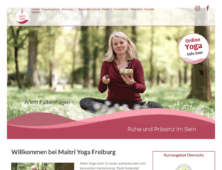 maitriyoga.de screenshot