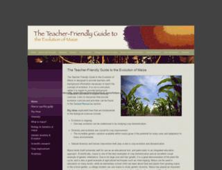 maize.teacherfriendlyguide.org screenshot