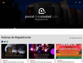 majadahonda.portaldetuciudad.com screenshot