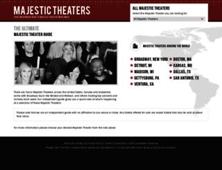 majestic-theater.com screenshot