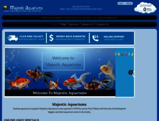 majesticaquariums.com.au screenshot