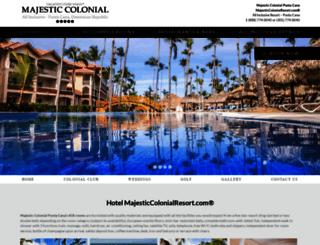 majesticcolonialresort.com screenshot