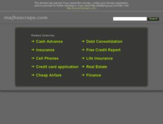 majhescraps.com screenshot