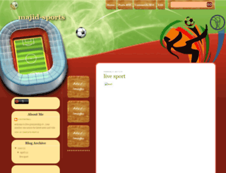 majid-sports.blogspot.com screenshot