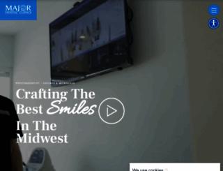 majordentalclinics.com screenshot