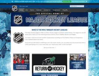 majorhockeyleague.ca screenshot