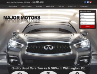 majormotorsde.com screenshot