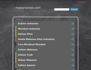 makananas.com screenshot