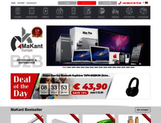 makant-europe.de screenshot