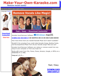 make-your-own-karaoke.com screenshot