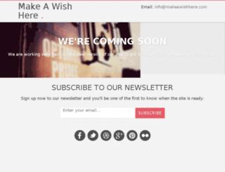 makeawishhere.com screenshot