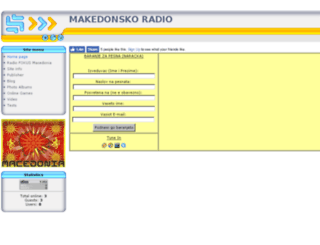 makedonskoradio.com screenshot