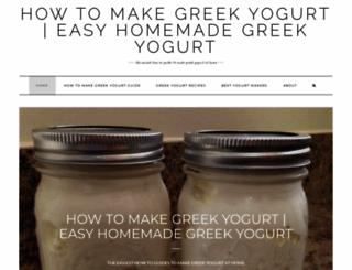 makegreekyogurt.com screenshot