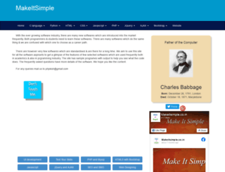 makeitsimple.co.in screenshot
