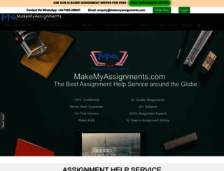 makemyassignments.com screenshot
