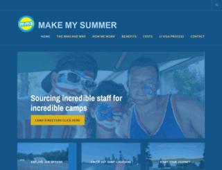 makemysummer.com screenshot
