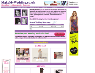 makemywedding.co.uk screenshot