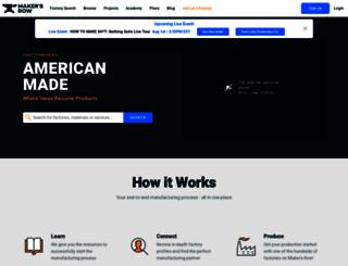 makersrow.com screenshot