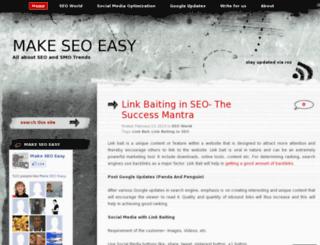 makeseoeasy.wordpress.com screenshot