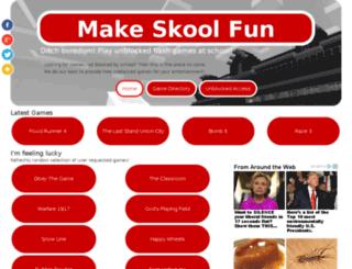 makeskoolfun.net screenshot