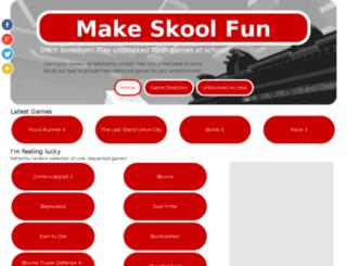 makeskoolfun.org screenshot