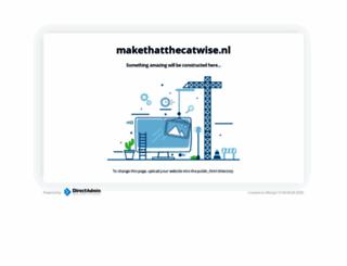 makethatthecatwise.nl screenshot