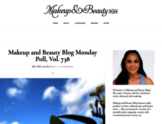 makeupandbeautyblog.com screenshot
