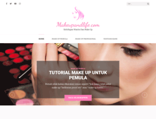 makeupandlife.com screenshot