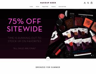 makeupgeek.com screenshot