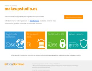makeupstudio.es screenshot