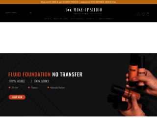 makeupstudio.in screenshot