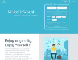 makeurworld.com screenshot