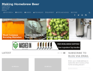 makinghomebrewbeer.com screenshot