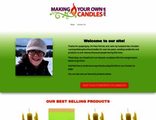 makingyourowncandles.co.uk screenshot