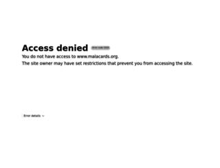 malacards.org screenshot