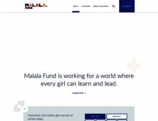 malala.org screenshot